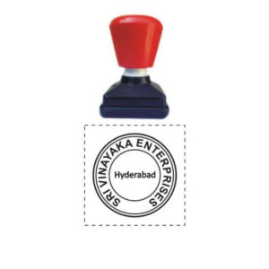 Pre Inked Round Stamps