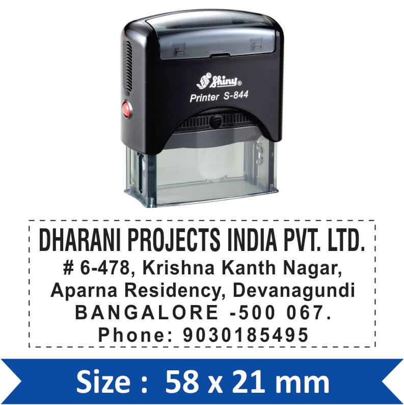 Shiny Address Stamp S-844