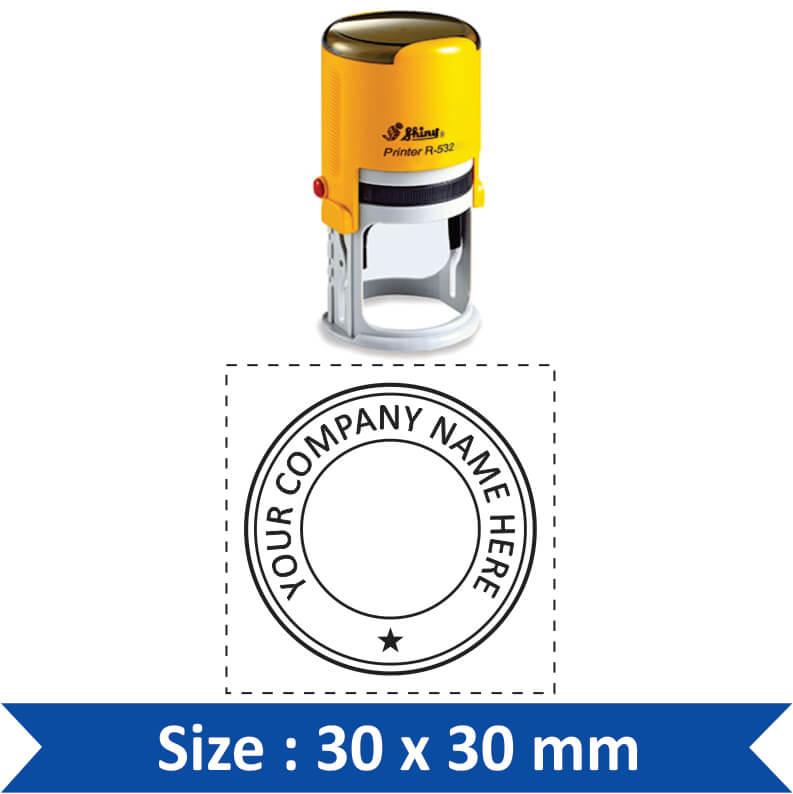 shiny round stamp S-09